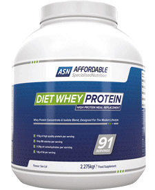 Affordable Specialised Nutrition - Diet Whey Protein - 5.02 lbs / 2.28 kg Tub