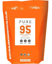 Bodybuilding Warehouse - Pure Whey Protein Isolate 95 - 2.2 lbs / 1 kg Bag